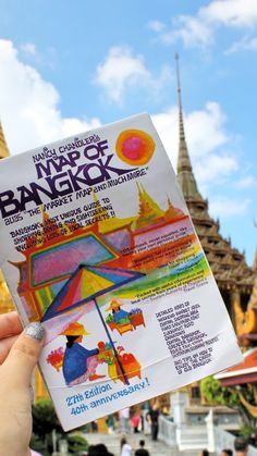 My best tool for exploring Bangkok is this map by Nancy Chandler. Travel Maps, Bangkok, Exploring, Thailand, I Am Awesome, Photo And Video, Instagram, Travel Cards, Explore