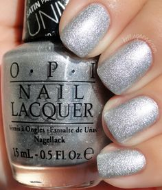 OPI — This Gown Needs a Crown (Miss Universe Collection Silver Nail Polish, Opi Nail Polish, Opi Nails, Miss Universe 2013, Nail Art, Gel Nail Colors, Nail Blog, Daily Nail, Nail Polish Collection
