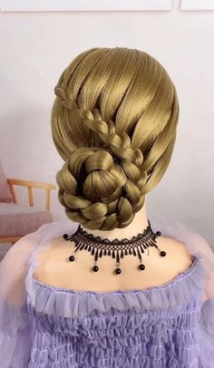 Braided Updo, Braided Hairstyles, Front Hair Styles, Hair A, Braid Styles, Ethereal, Art Drawings, Makeup Looks, Braids