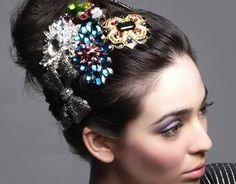 Jewel hair brooch | Holiday Hairstyles | MissesDressy.com Blog