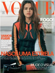 Nicolas and Selena by Bruce Weber for Vogue Brasil June Vogue Australia September by Emma Summerton. Selena covers Vogue US April by Mert & Marcus. Selena Selena, Selena Gomez Vogue, Mode Selena Gomez, Vogue Magazine Covers, Fashion Magazine Cover, Fashion Cover, Teen Choice Awards 2016, Nicolas Ghesquiere, Vogue Covers