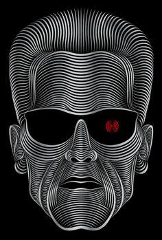 Terminator   illustration by Patrick Seymour, via Behance