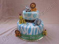 boy baby shower cakes animal - Google Search