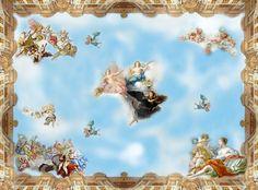 beibehang desktop 3D wallpaper murals Top suspended mural wall paper painting blue sky photo wallpaper for wall contact paper