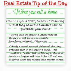 Real Estate Tip of the Day, when you sell a home  #realestate #sellmyhome #homesellingtip