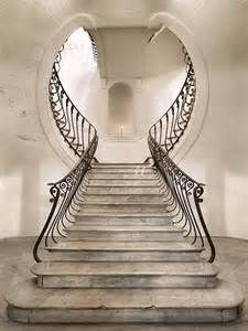Some art nouveau. Great combination of outside the box staircase and art deco design Escalier Art, Escalier Design, Beautiful Architecture, Art And Architecture, Architecture Details, Staircase Architecture, Art Nouveau Architecture, Grand Staircase, Staircase Design