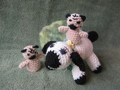 A fun gang lamb and two pug puppets!