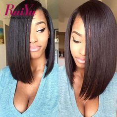 Peruvian Glueless Full Lace Human Virgin Hair Wigs Short Straight Hair Bob Lace Front Human Hair Wigs For Black Women Bob Wigs