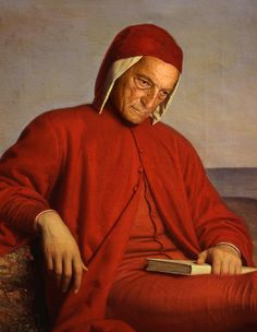 Dante Alighieri in exile, oil painting by Domenico Petarlini. Dante Alighieri, Potrait Painting, Famous Poems, Italian Paintings, Gustave Dore, Late Middle Ages, Writers And Poets, Book Writer, Caravaggio