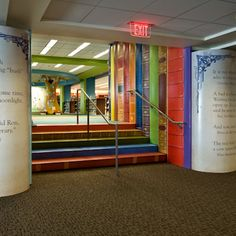 Entrance to Children's Library - Kansas City Public Library. Future Library, Kids Library, Dream Library, Library Design, Library Ideas, Kansas City Library, Central Library, School Librarian, I School