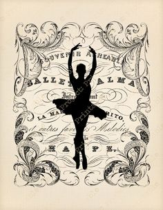 Ballet Dancer Fabric Transfer image - Instant download digital printable clipart - Ballerina graphics for dance bag, t-shirt, tote, cushion by ProjectPrintable on Etsy https://www.etsy.com/listing/189891507/ballet-dancer-fabric-transfer-image