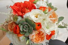 succulent and flower bouquet | ... succulents used. More succulent bouquets below also from Aubrey's