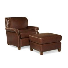 Look what I found on Wayfair!  Another leather chair and ottoman option
