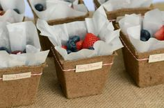 Cups Burpee eco friendly Seed Starting pots (Home Depot or Kmart) Used parchment paper to line Bakers Twine to wrap & made my own labels