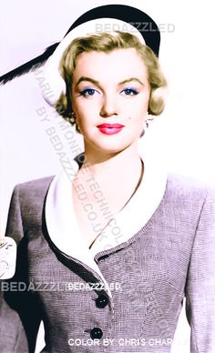 MARILYN MONROE TECHNICOLOR CONVERSION FROM B/W PRINT