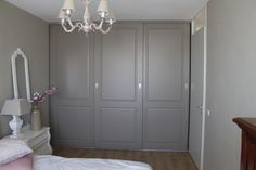 Bedroom Built In Wardrobe, Bedroom Closet Design, Home Bedroom, Master Bedroom, Fitted Wardrobes, Diy Kitchen, Armoire, House Design, Doors