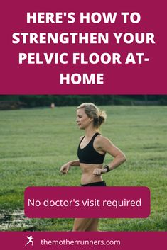 Moms! You don't have to leak when you run. Learn how to screen for pelvic floor issues and how to strengthen at home. #motherrunner #momswhorun #fitmoms #pelvicfloor #pelvicfloorhealth #kegels #runner #runningtips #runninghacks Ab Workouts, Running Workouts, Running Tips, Home Strength Training, Strength Training For Runners, Glute Isolation Workout, Straight Leg Raise, Post Workout Nutrition, Fit Moms