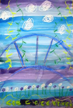 For this project, we began by learning about Claude Monet and his gardens. We looked at the story Linnea in Monet's G. Artists For Kids, Art For Kids, Special Needs Art, Crayon Drawings, Spring Art, Painted Paper, Claude Monet, Art Club, Art Pages