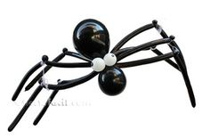 Una graciosa araña de globos
