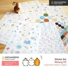 Product Molang Sticker V2 Diary Planner Scrapbooking Decoration Stickers 6 Sheets. Product Molang Sticker V2 Diary Planner Scrapbooking Decoration Stickers 6 Sheets.