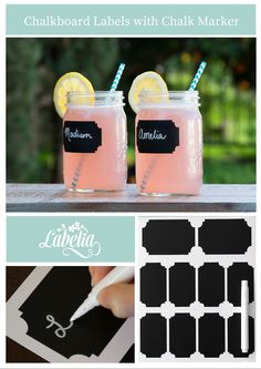 Decorate and organize your party or home with Labelia Chalkboard Labels and Liquid Chalk Marker. 50 Labels, 2 sizes $12.99.