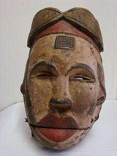 Masque Ogoni Ibibio Art Tribal Africain Arte Africano Afrika Kunst Mask 24cm