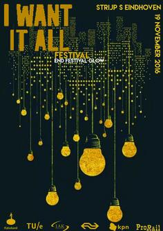 poster, I want it all festival - Evy van Bree