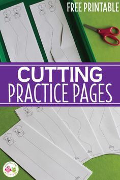 Use these printables for cutting activities for preschoolers. The free cutting pages will give kids lots of opportunities to practice their scissor skills. Circle Time Activities, Pre K Activities, Kindergarten Activities, Classroom Activities, Dementia Activities, Animal Activities, Physical Activities, Classroom Ideas, Preschool Cutting Practice
