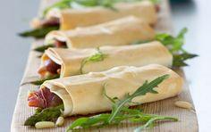 Filoruller med parmaskinke og grønne asparges
