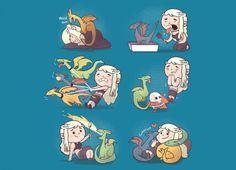 Daenerys Targaryen Imagined As A Crazy Dragon Lady Is Super Cute [T-Shirt]