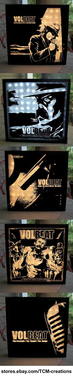 Volbeat shadow boxes with LED lighting.  The Strength/The Sound/The Songs, Rock The Rebel/Metal The Devil, Guitar Gangsters & Cadillac Blood, Beyond Hell/Above Heaven, Outlaw Gentlemen & Shady Ladies, Seal The Deal & Let's Boogie, Michael Poulsen, Teddy Vang, Franz Gottschalk, Thomas Bredahl, Rob Caggiano, Anders Kjolholm, Kaspar Boye Larson, Jon Larson