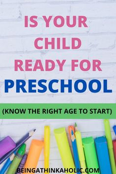 Preschool Readiness, Preschool Age, Preschool Learning, Child Life, Pre School, Parenting Advice, How To Know, My Children, Your Child