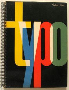 1957 Modern SWISS TYPOGRAPHY DESIGN Walter MARTI Rare