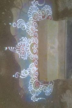 Make these border rangoli designs at the corners and at the entrance of your home. Decorate your house with these pretty border rangoli designs for Diwali. Easy Rangoli Designs Videos, Simple Rangoli Border Designs, Boarder Designs, Rangoli Designs Latest, Rangoli Designs Flower, Rangoli Borders, Free Hand Rangoli Design, Small Rangoli Design, Rangoli Patterns