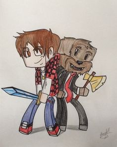 BajanCanadian and AsfJerome fan art! By:  Aiden Gregory