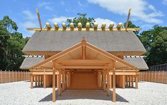 Ise shrine Nakamiya Tadashi Tadashi (Mugen Prefecture) (Mie prefecture) is an example of Shingaku making a flat entrance, having a hard fish tree (ottori) and a tree (Chigi) at a gable roof, and all the pillars as a pillar . On the construction of Shin Ming, hard fish trees of circular cross section orthogonal to the ridge line up on the gable roof ridge, and there are Chiki protruding diagonally at both ends of the ridge. Ise shrine Masamiya Nakamiya (Ise city, Mie prefecture) has been…