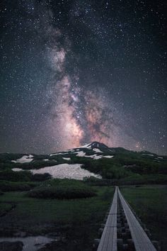 Milky way above the Mt. Chōkai by Noriko Tabuchi