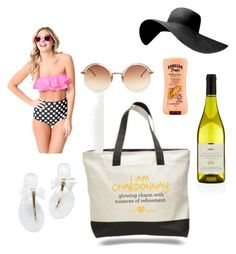 Beach Babe by winewomenandwhatnot on Polyvore featuring polyvore, fashion, style, Linda Farrow, Hawaiian Tropic, Harrods and clothing