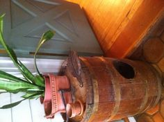My old butter churn.