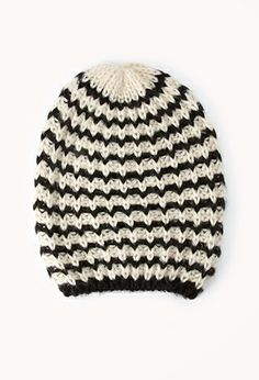 Candy Striped Open-Knit Beanie | FOREVER 21 - 2040496790
