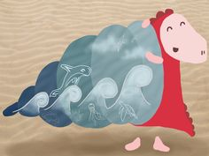 """Sea"", an illustration for IllustrationFriday(.com) by Loezelot. www.facebook.com/loezelot"