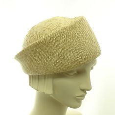 Natural Straw Hat for Women Beret Summer Hat by TheMillineryShop