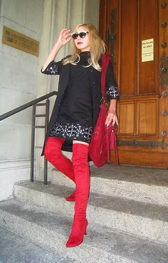 Look in combination with wine red and black Tiana, People Around The World, That Look, Punk, Sweaters, Black, Dresses, Style, Fashion