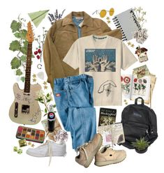 """bassist"" by wryffle ❤ liked on Polyvore featuring Wyld Home, Paperchase, Timberland, Retrò, GO Home Ltd., Dickies and NIKE"