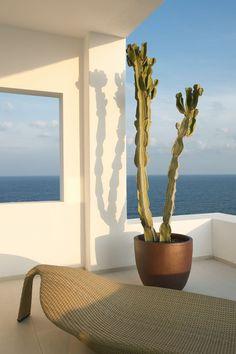 Una casa en Ibiza. Dupli Dos, de Juma Architects. Foto: Verne  #casasmodernas #casas #diseño #exteriores #terraza #azotea