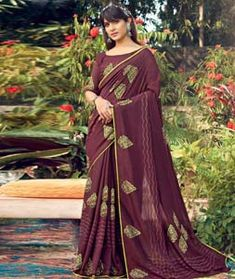 Chanderi Silk Saree Chanderi Silk Saree, Silk Sarees, Long Cut, Blouse Online, How To Dye Fabric, Color Shades, Festival Wear, Head To Toe, Sari