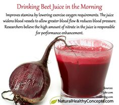 The benefit of drinking beet juice in the morning...