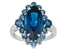 6.89ctw Marquise And Round Barehipani Topaz Sterling Silver Ring
