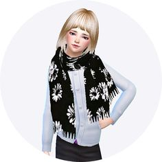 Child fringe muffler (scarf) at Marigold via Sims 4 Updates