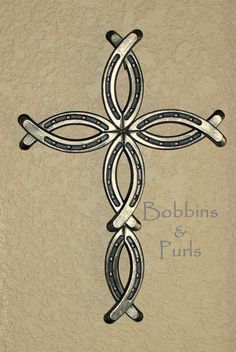 Handmade horseshoe fish cross. Measures approximately 14.5 tall x 10 wide. Cross is made from brand new, unused horseshoes. Your cross will